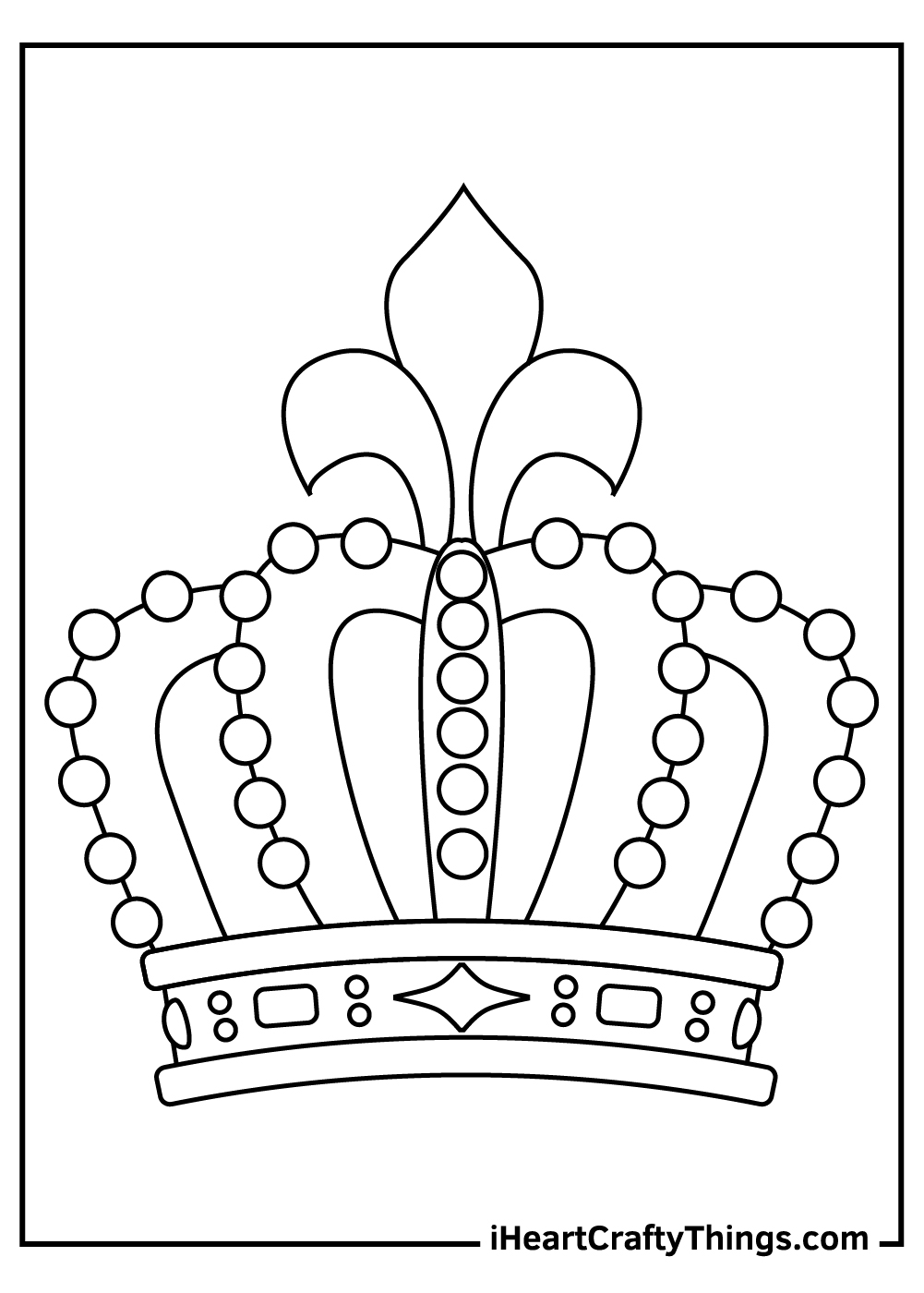 realistic crown coloring pages free download