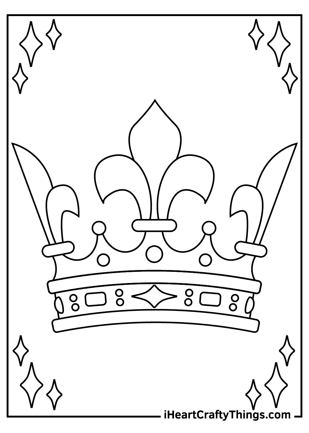 real princess crown coloring pages free pdf