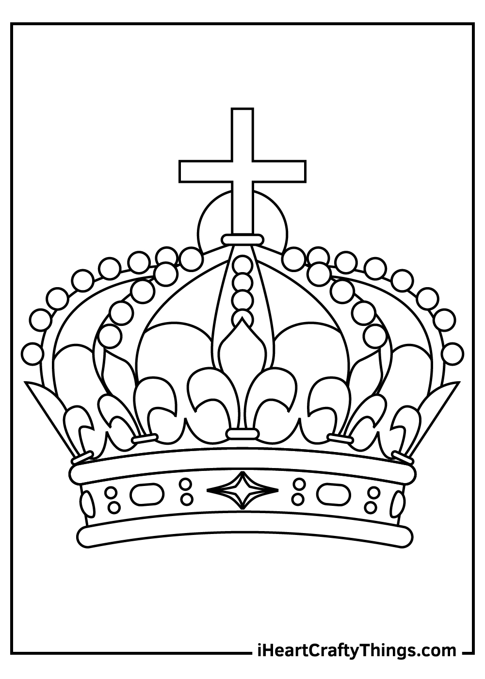 royal crown coloring pages free download
