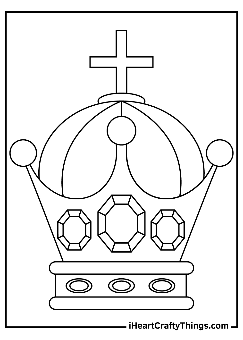 real royal crown coloring pages for kids