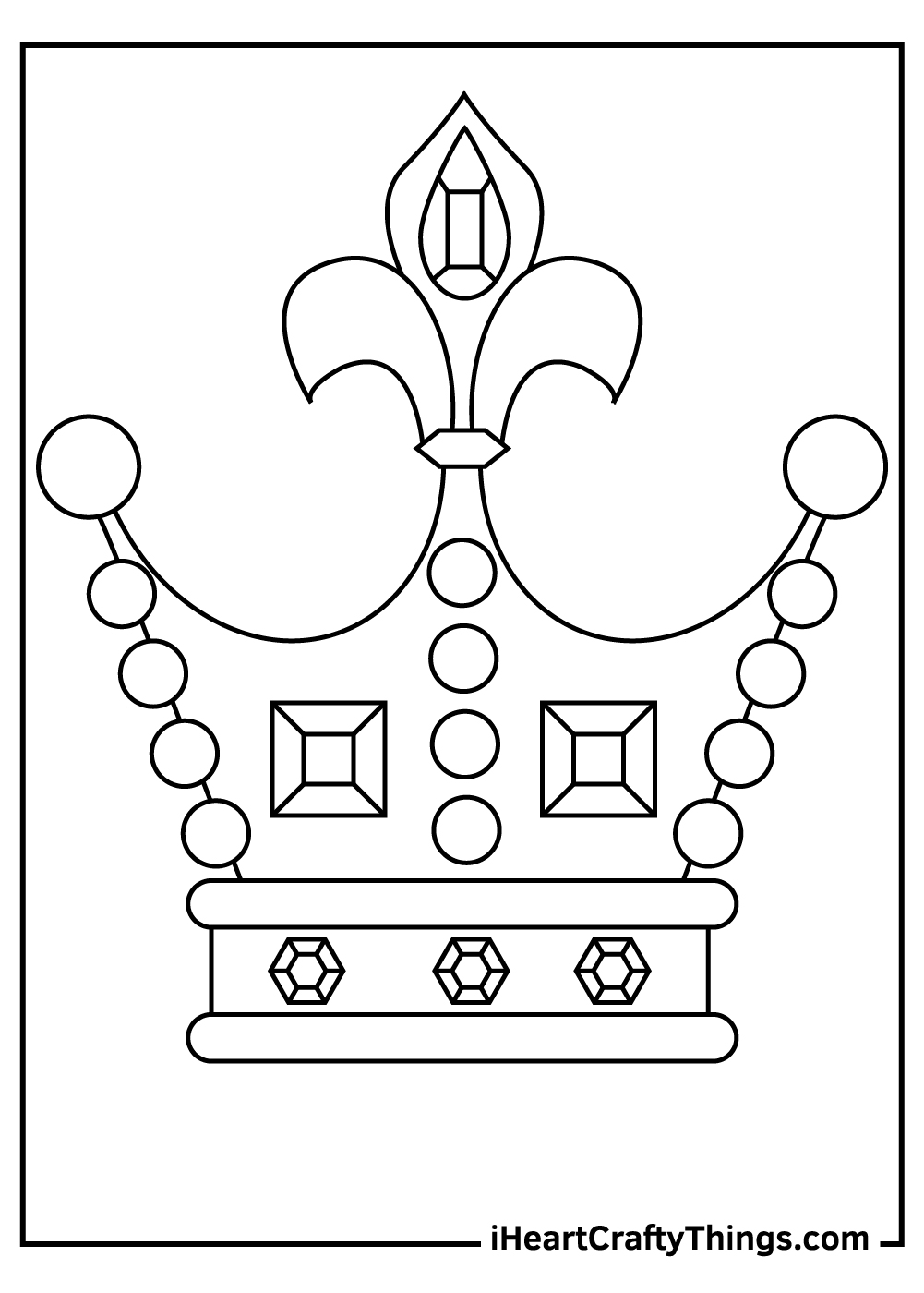 royal crown coloring pages for adults