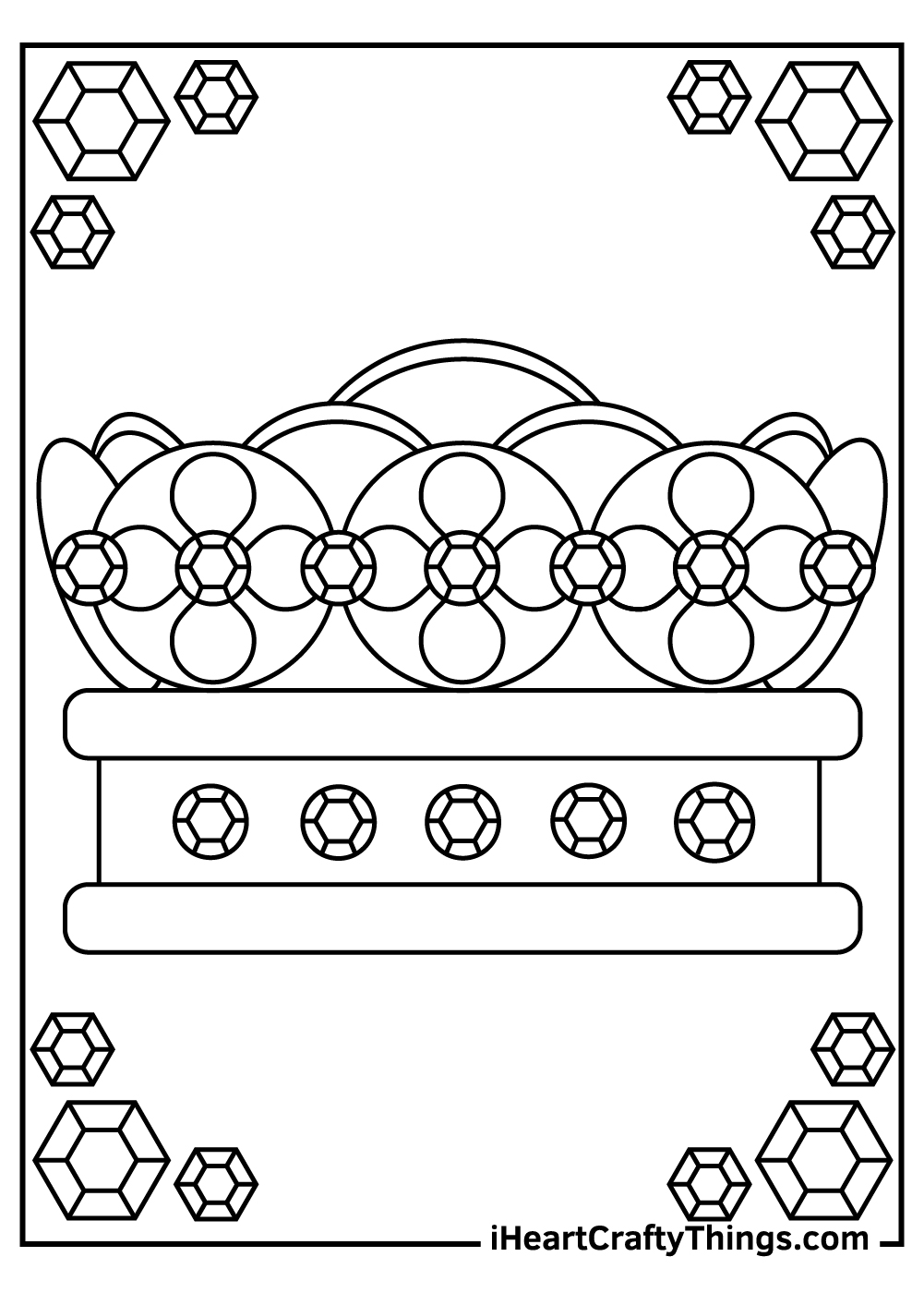 create a crown coloring pages printable