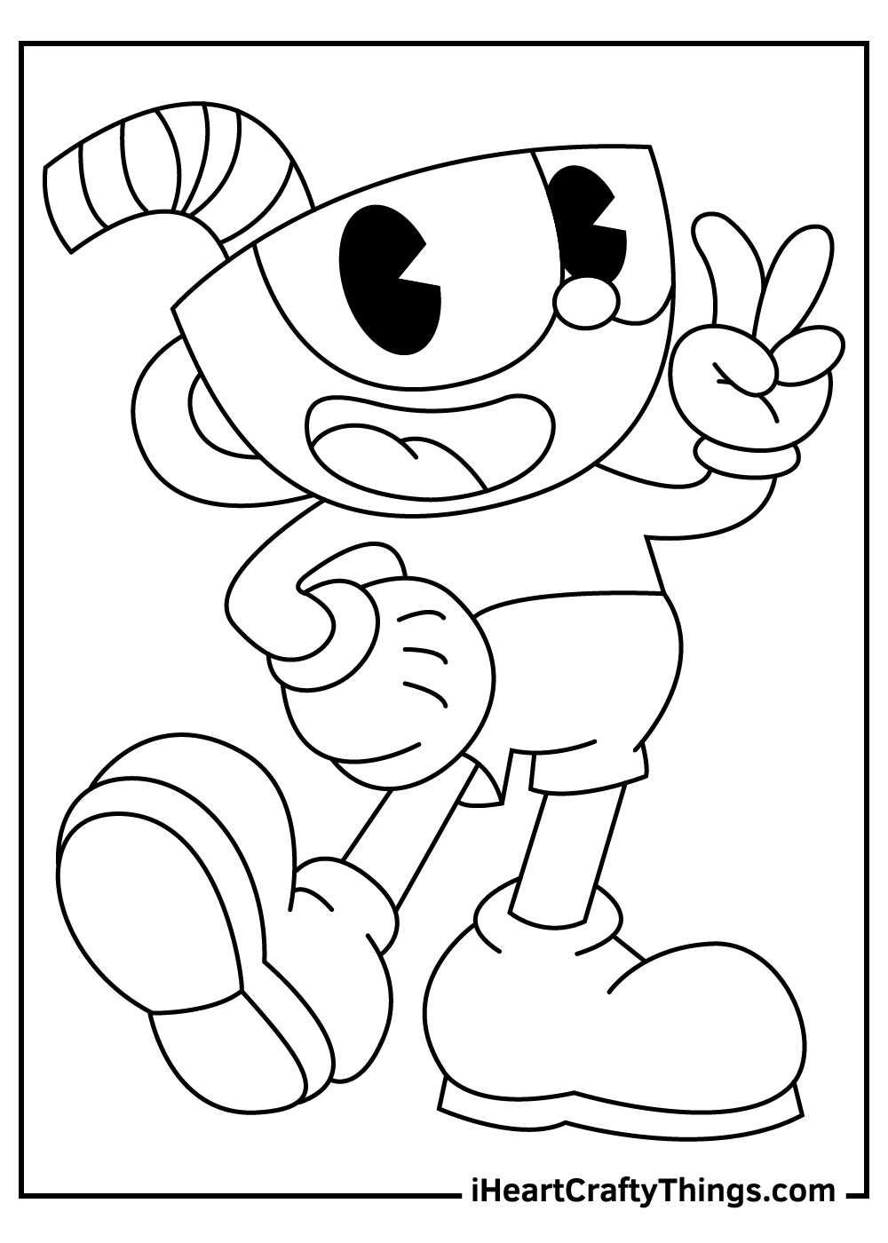 cuphead coloring pages free printables
