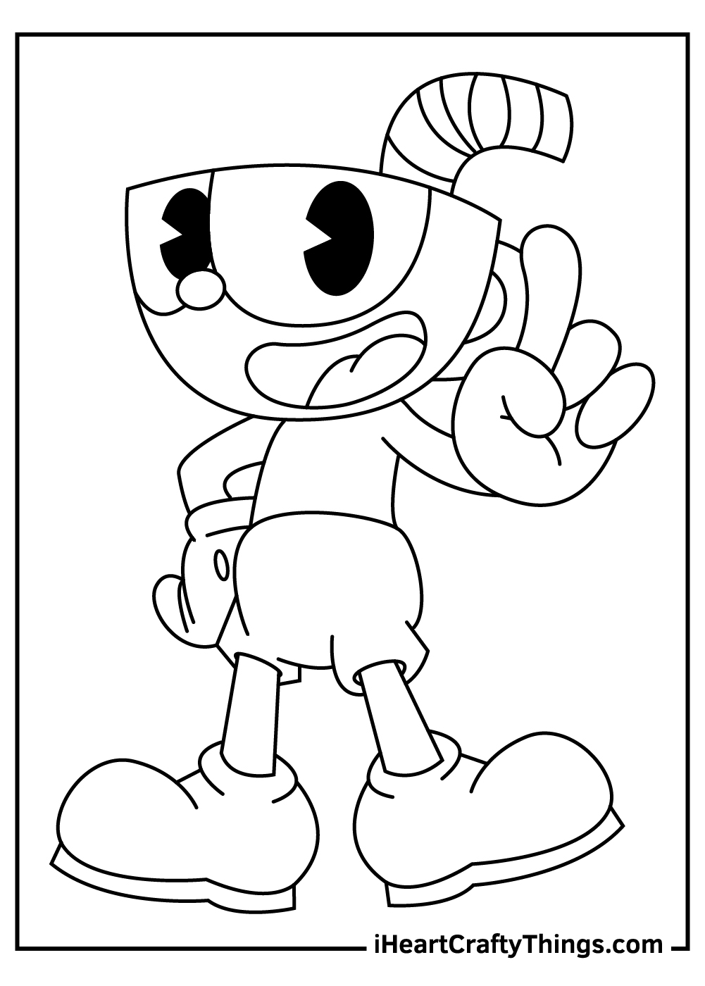 big cuphead coloring pages free download