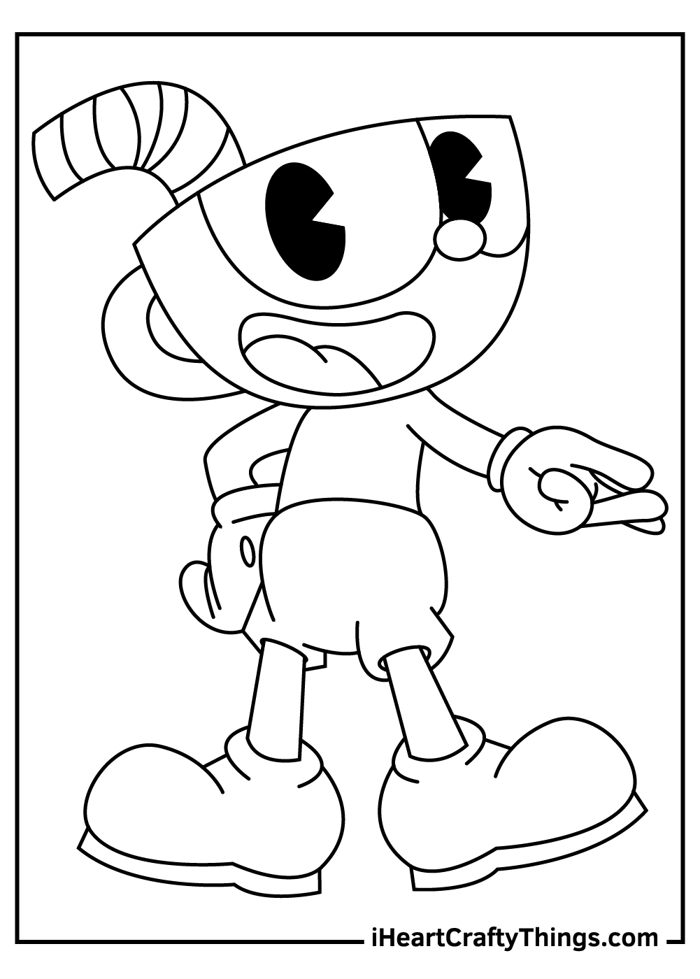 funny cuphead coloring pages free download
