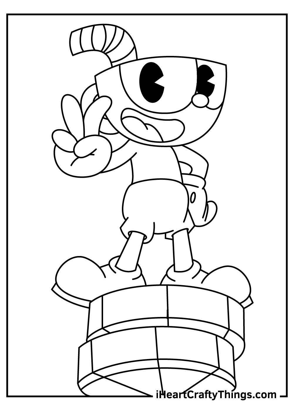 cuphead coloring pages for adults free download