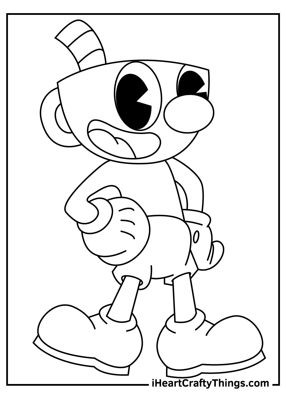 cuphead coloring pages for preschoolers free download