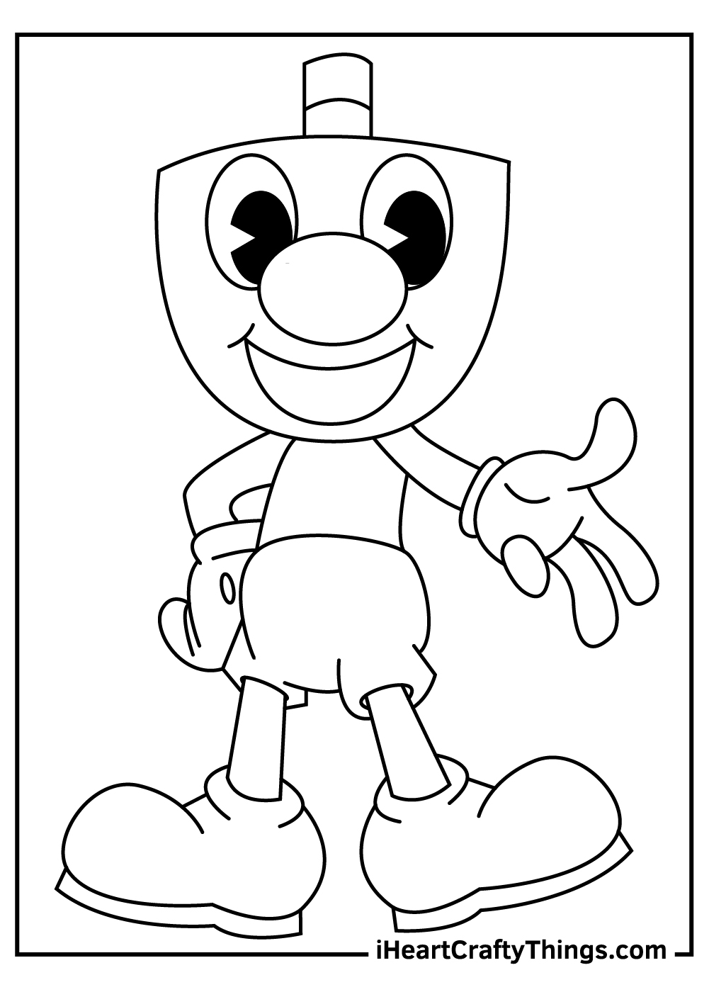 black and white cuphead coloring pages free printables