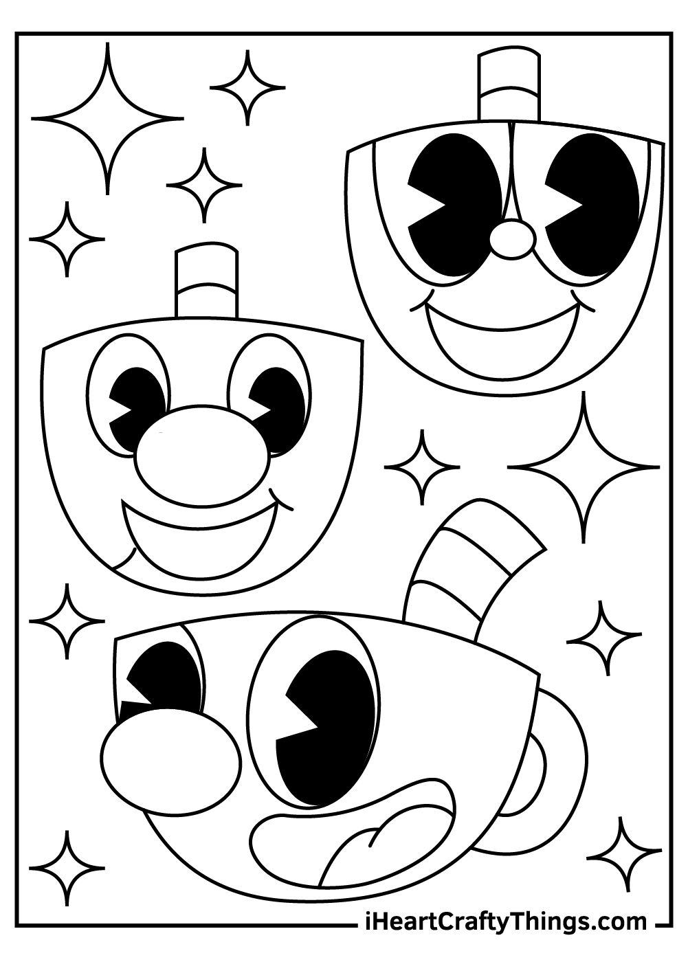 black and white cuphead coloring sheets pdf free download