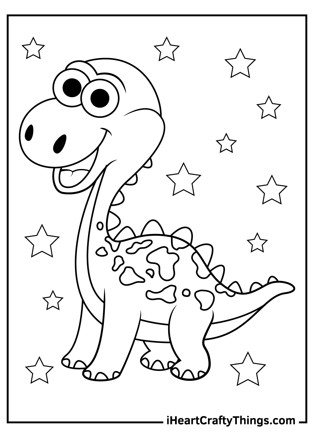 Cute Dinosaurs Coloring Pages for kids free download