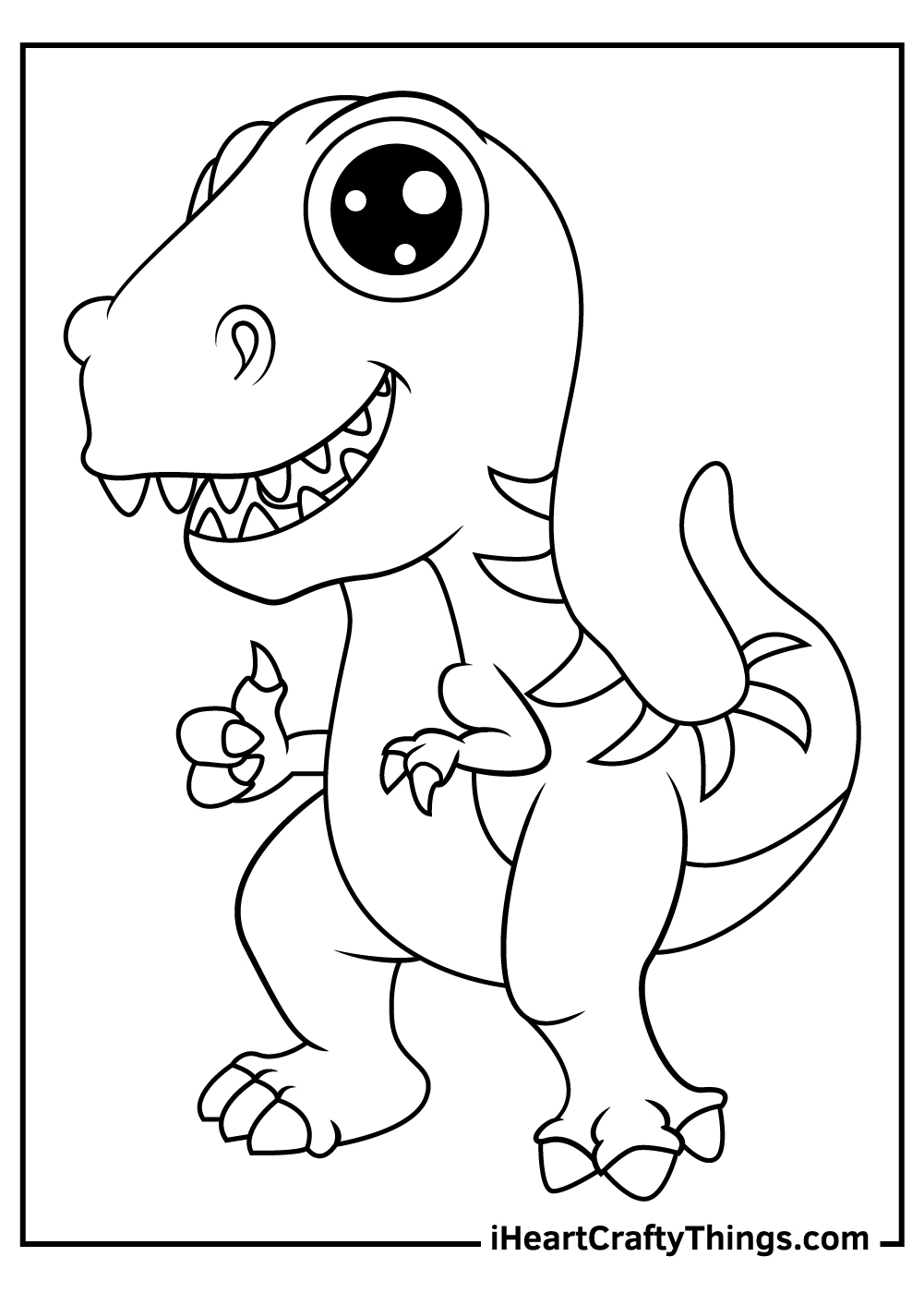 adorable dinosaurs coloring pages free print out