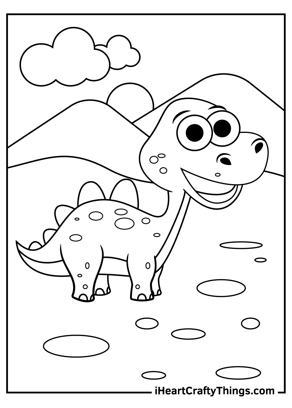 cute baby dinosaurs coloring pages free printable