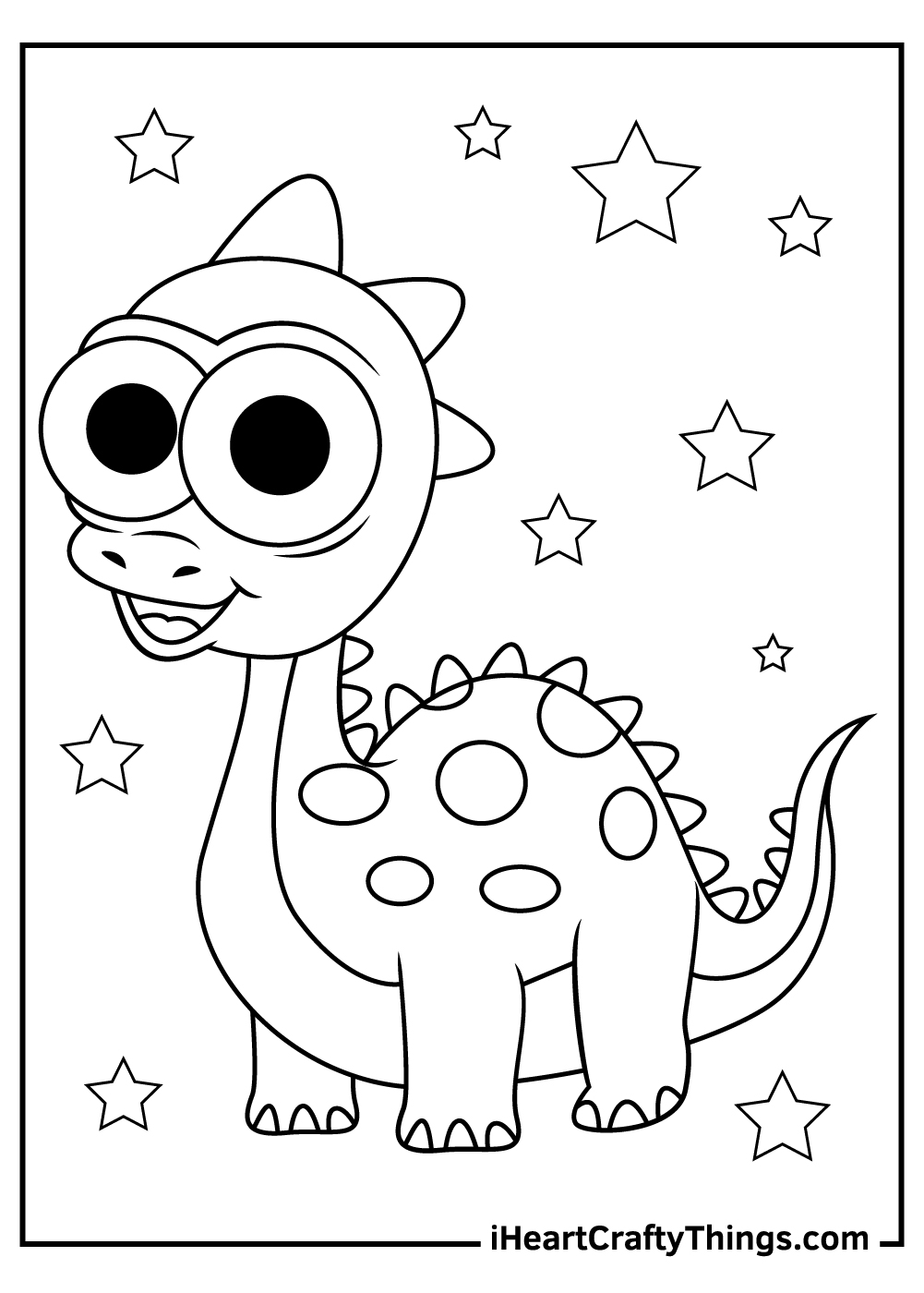 cute girls dinosaurs coloring pages for toddlers
