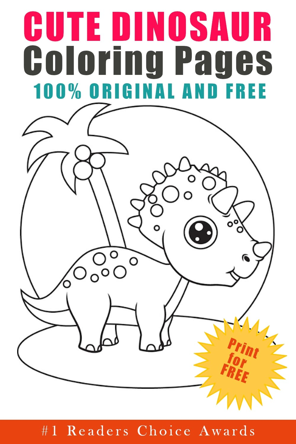 original and free cute dinosaur coloring pages