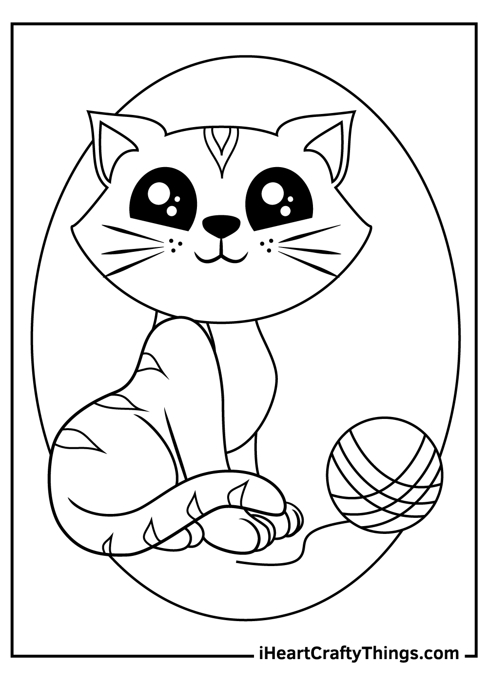 really cute kitten coloring pages for preschoolers