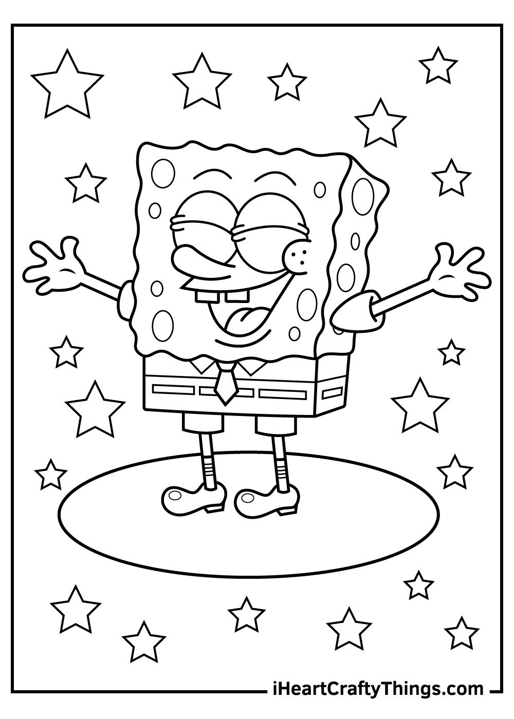 free printable spongebob coloring pages