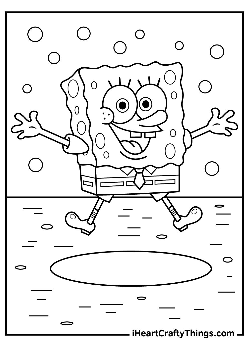 cute spongebob coloring pages to print