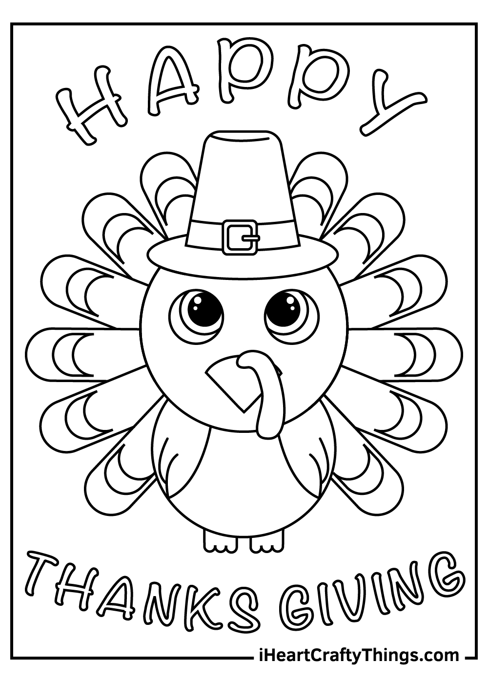 cute thanksgiving turkey coloring pages free printables