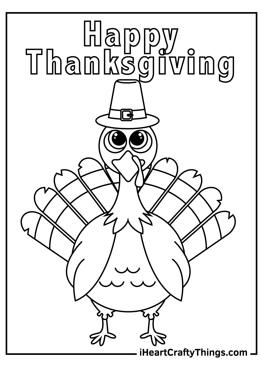 happy thanksgiving turkey coloring pages free printables