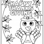 cute thanksgiving turkey coloring image