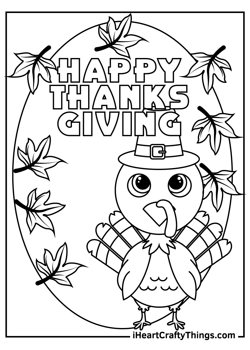 happy thanksgiving cute turkey coloring pages free download