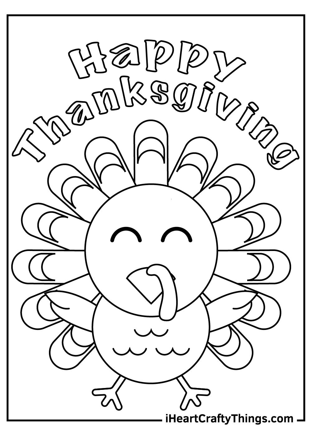 happy thanksgiving turkey coloring sheets free printable pdf