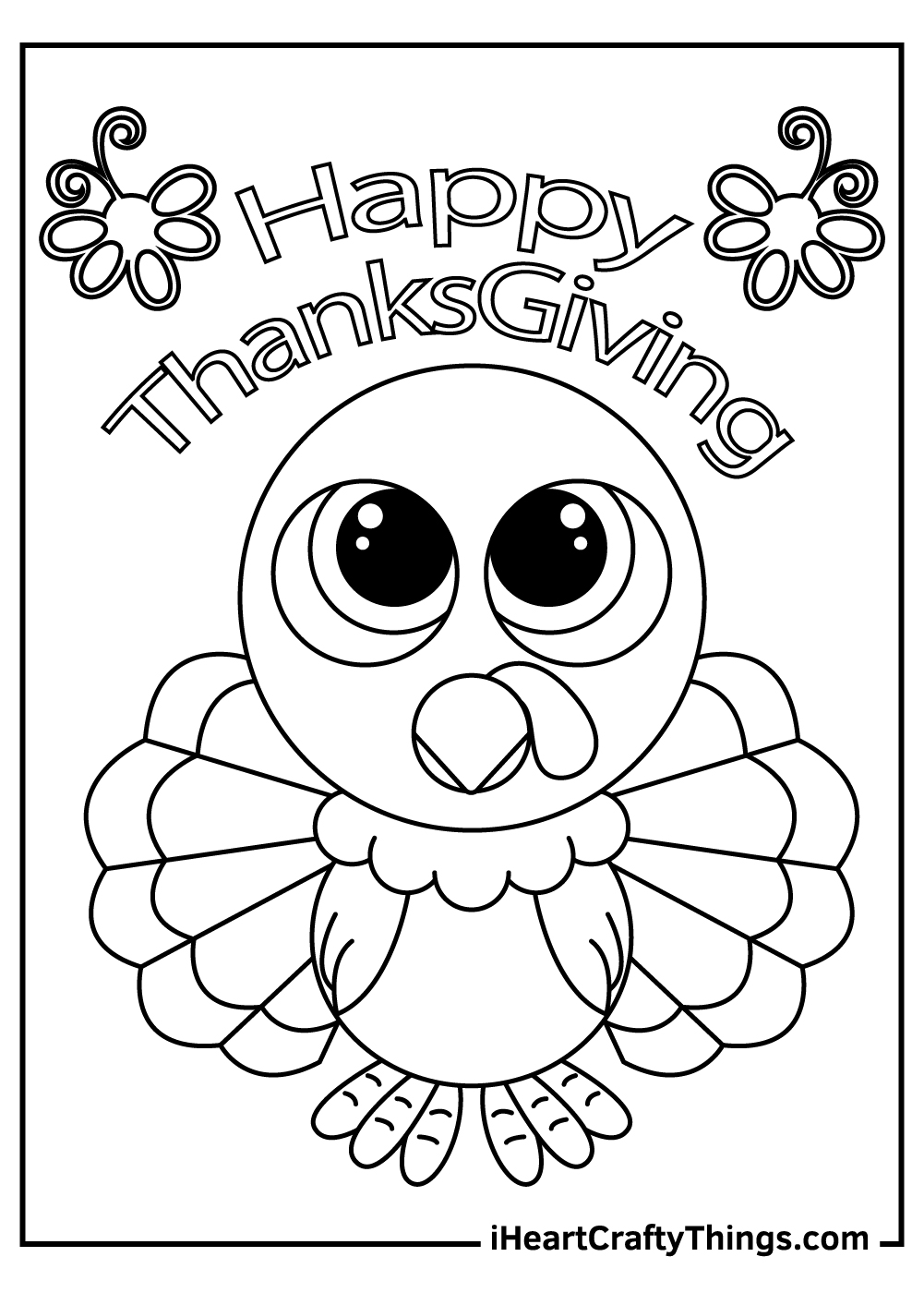 happy thanksgiving turkey coloring pages for kids free