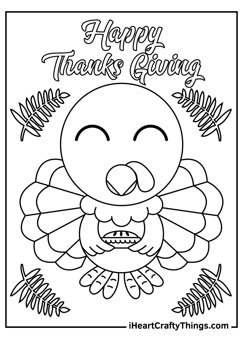 happy thanks giving coloring pages free printables