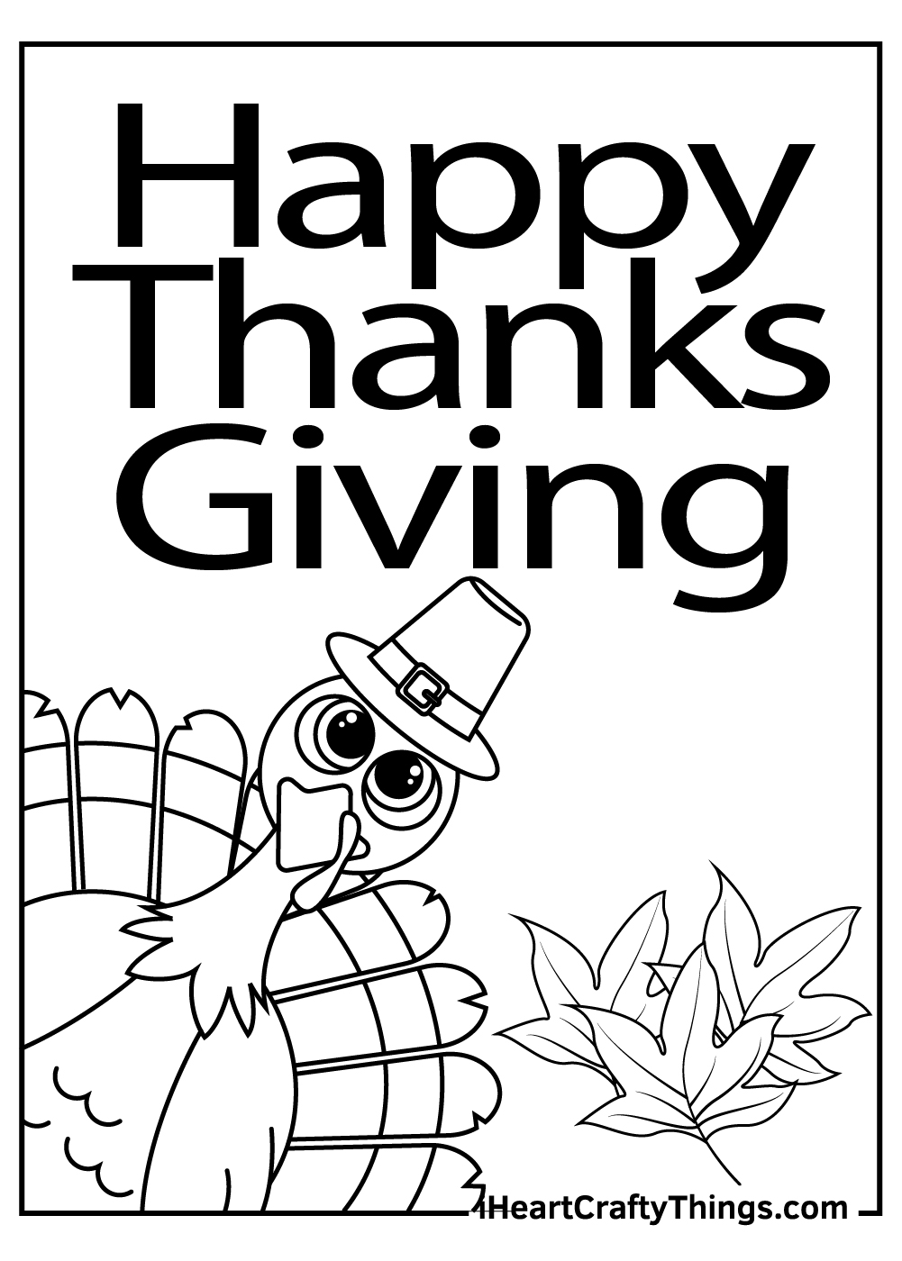 happy  thanks giving coloring printable pdf