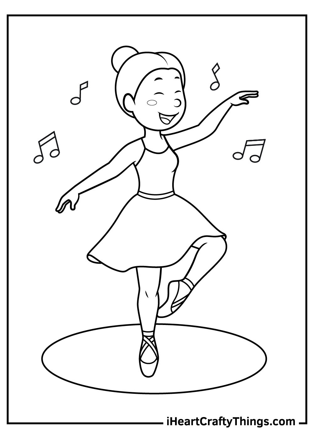 dancing girl coloring pages free download
