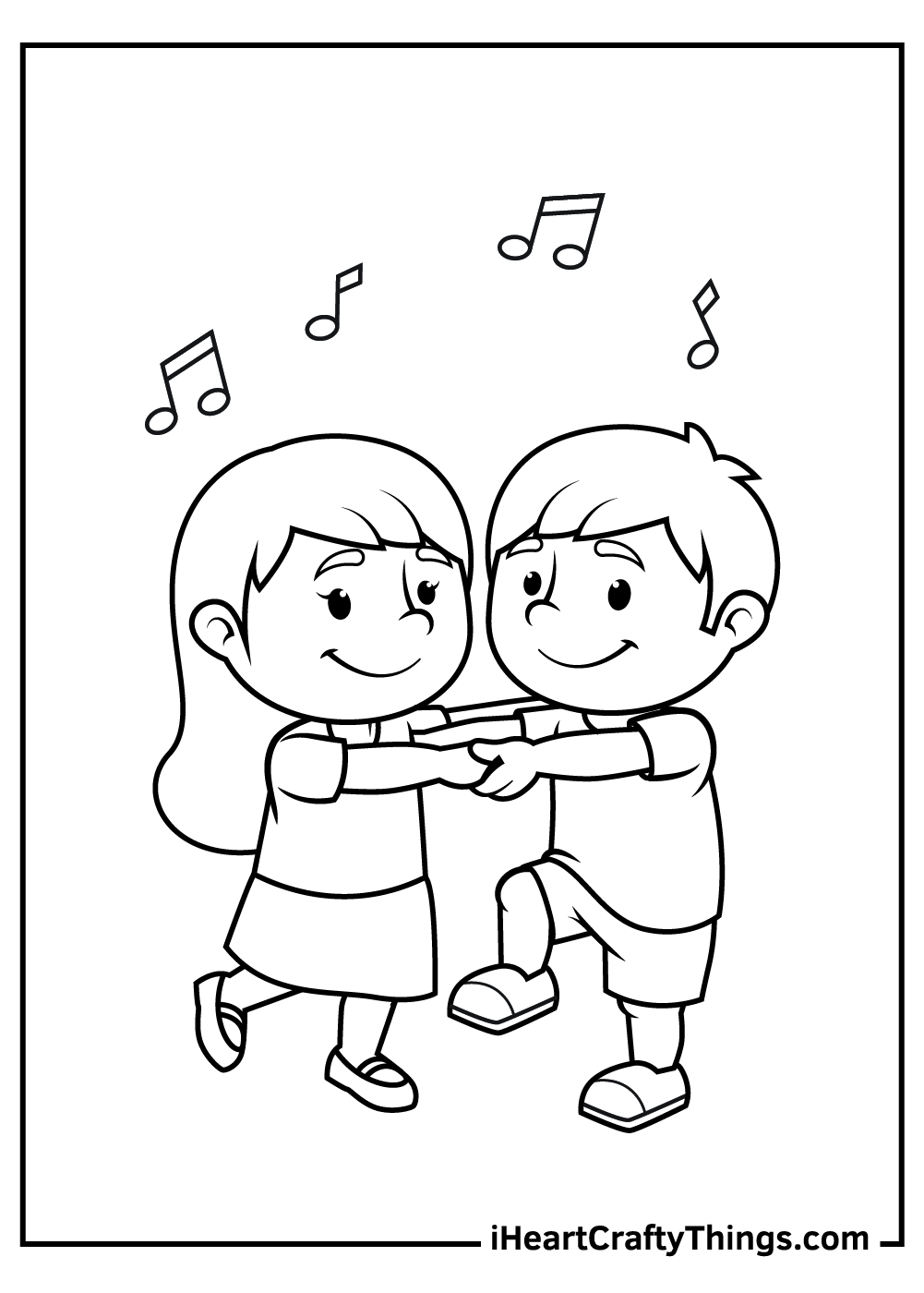 dancing kids coloring pages free printables