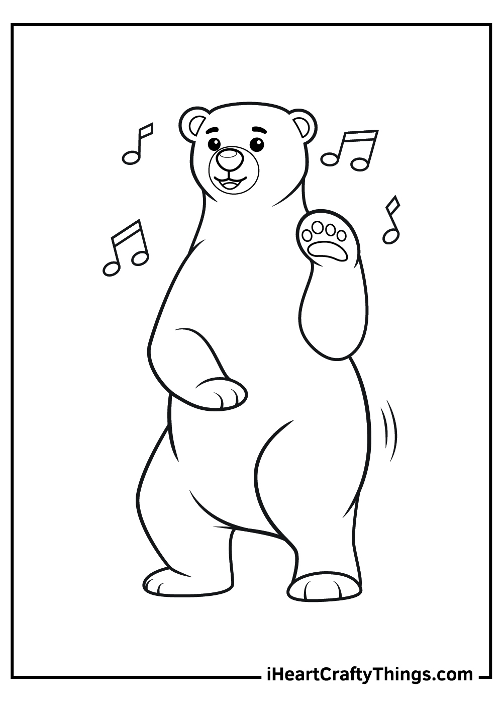 dancing bear coloring pages free download