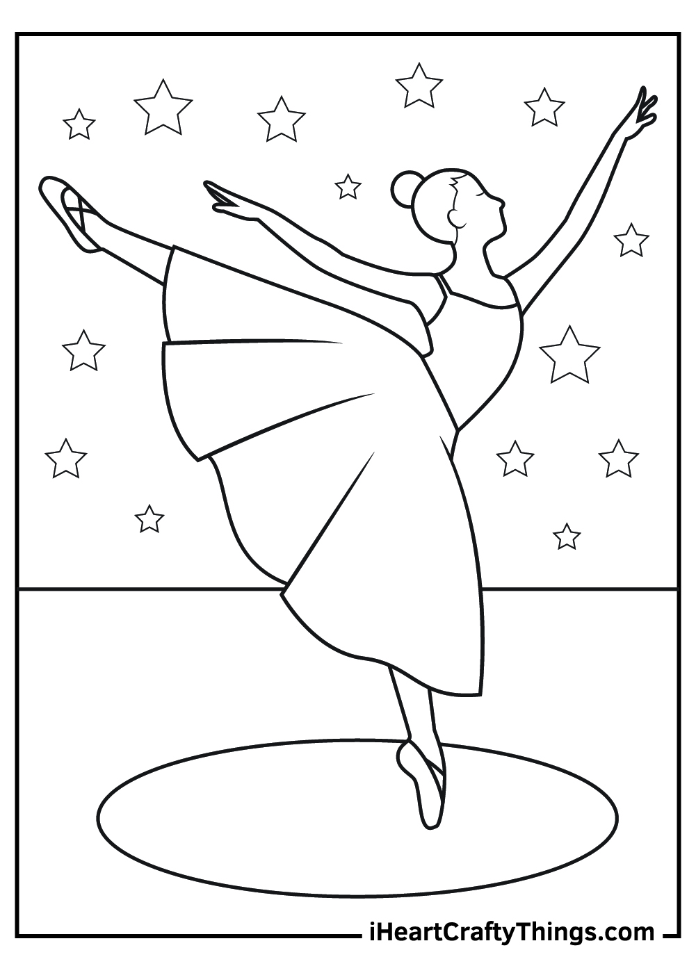 ballerina dancing coloring pages free