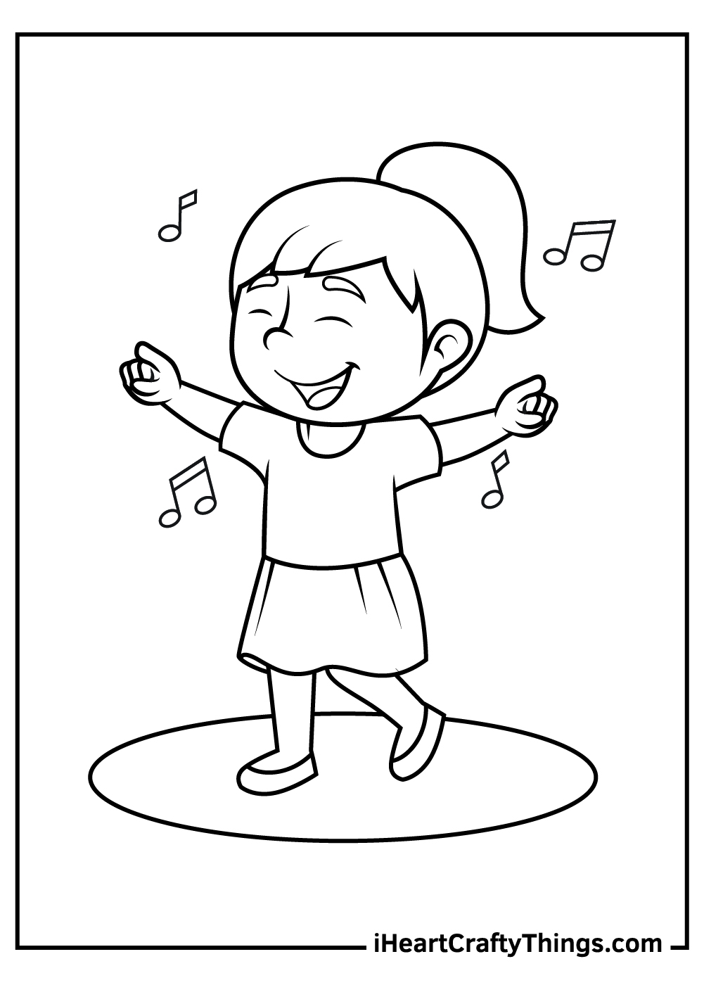 dance coloring pages for kids	 free