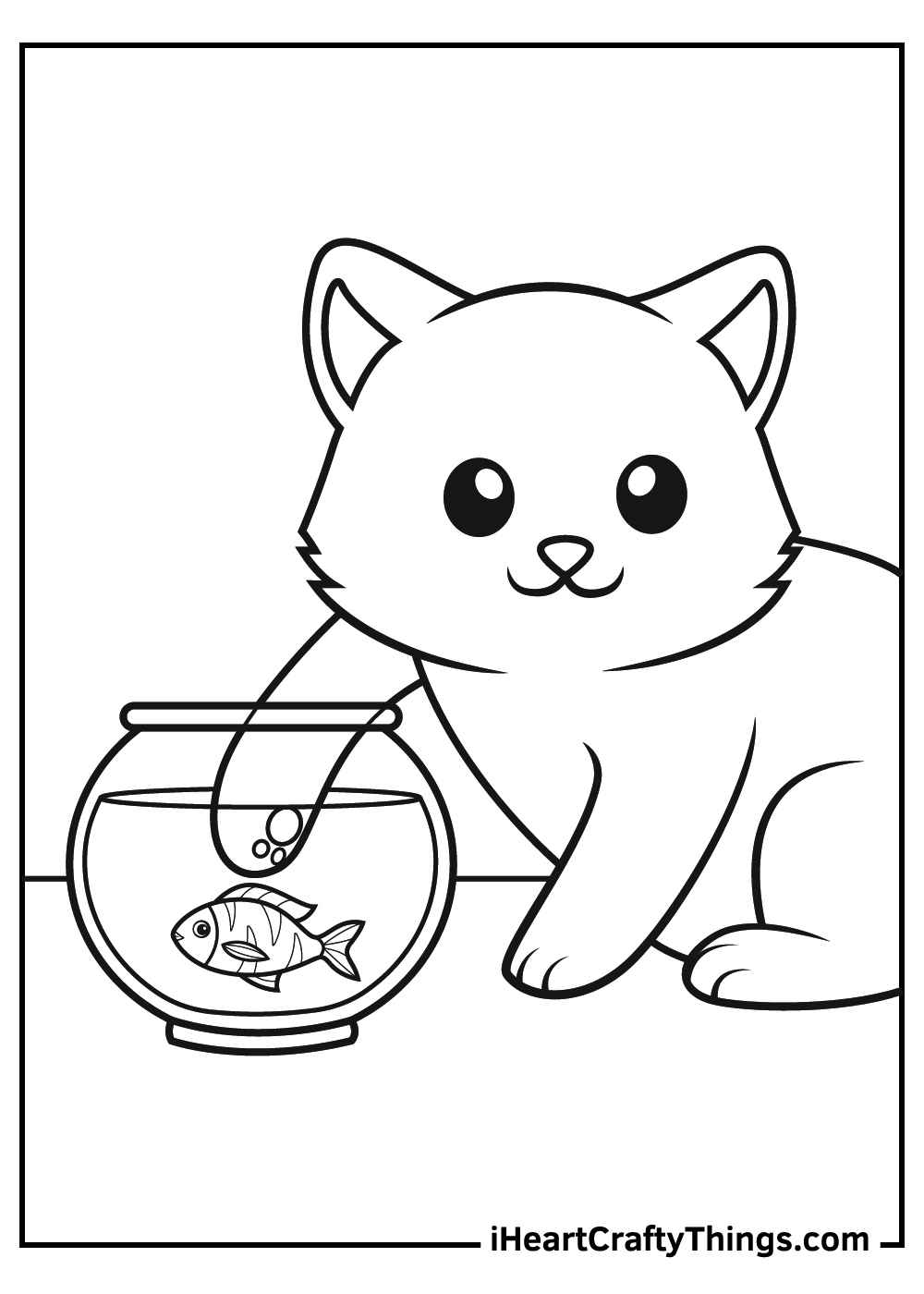 free adult printable cat coloring pages