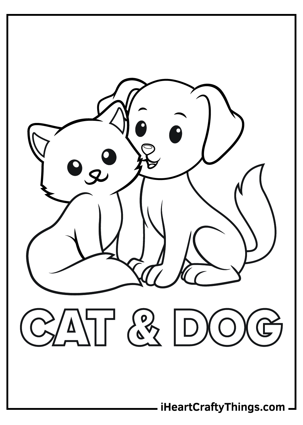 Dog And Cat Coloring Pages Updated 18