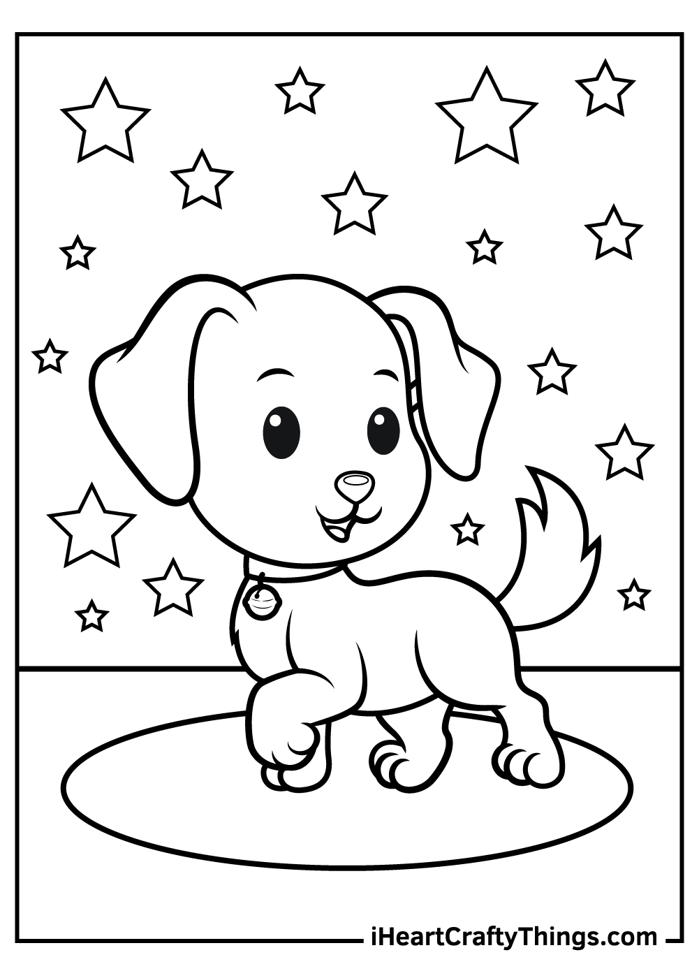 cute cartoon dog coloring pages free download