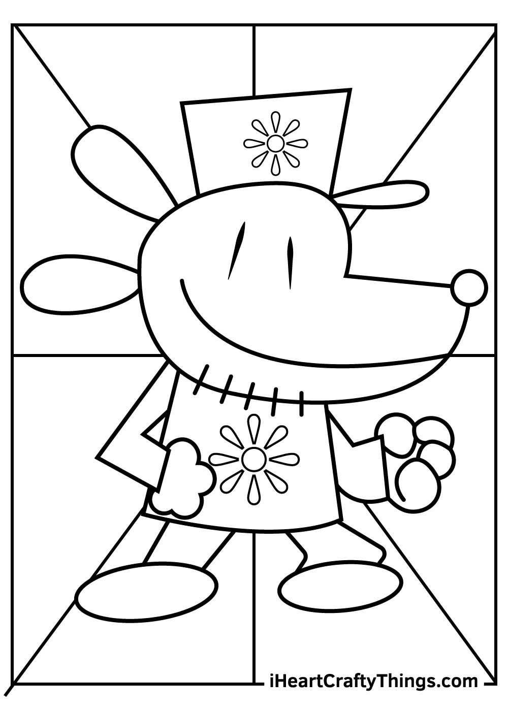 dog man coloring pages free printables