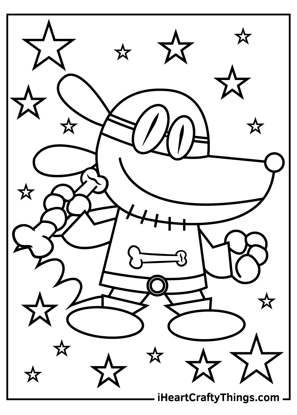 cool dog man coloring pages free printables