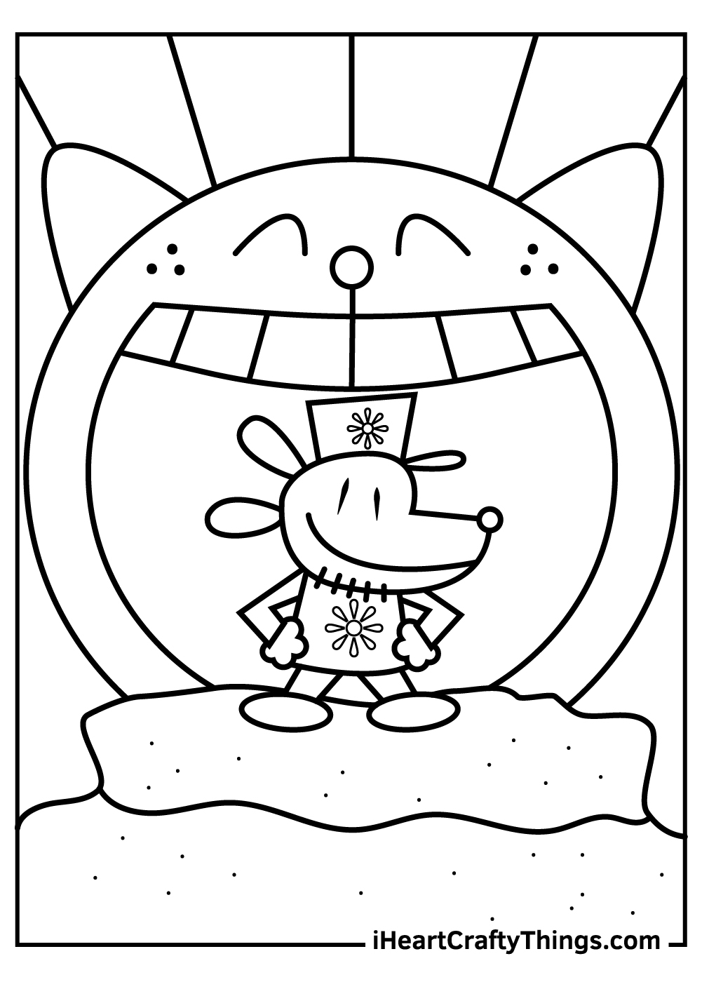 new dog man coloring pages free download