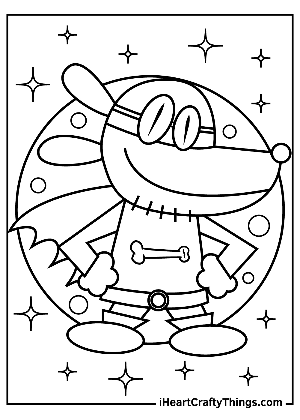 dog man coloring pages for kids free print out