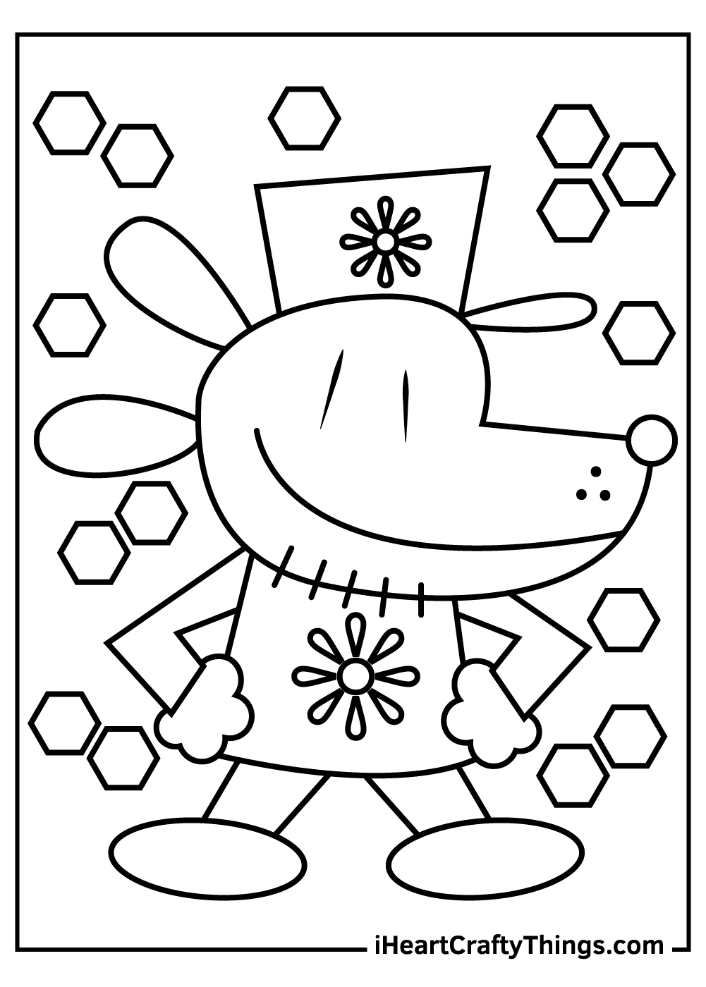 new simple dog man coloring pages free printables