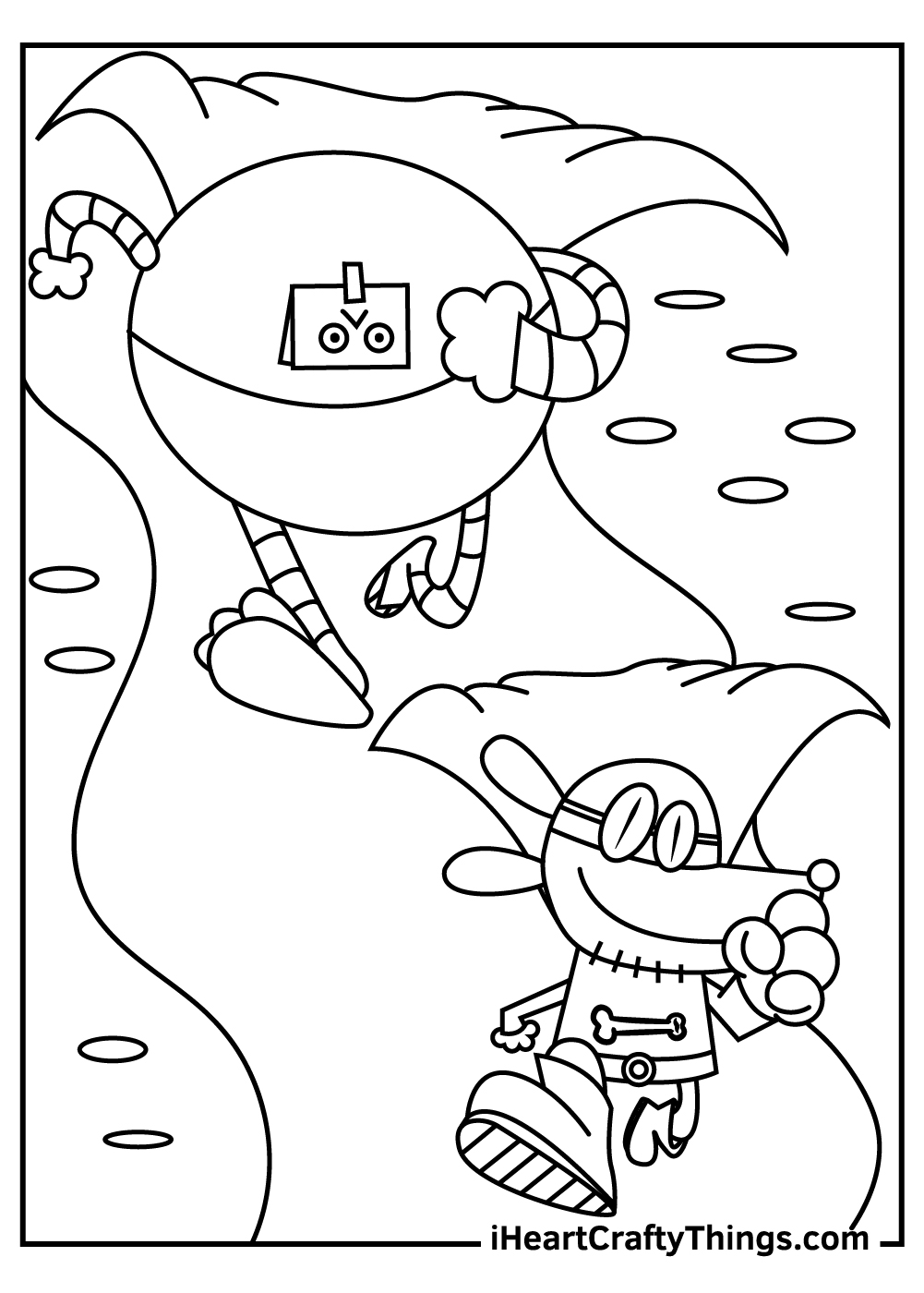 dog man coloring pages free pdf download