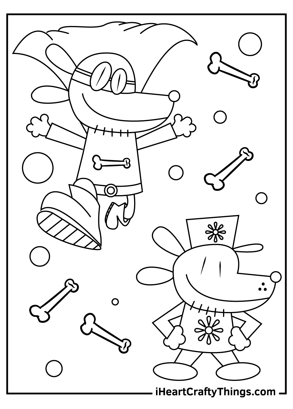 dog man coloring pages for adults free
