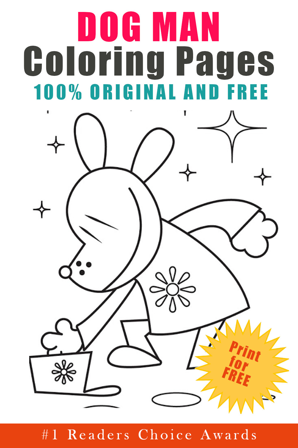 original and free dog man coloring pages
