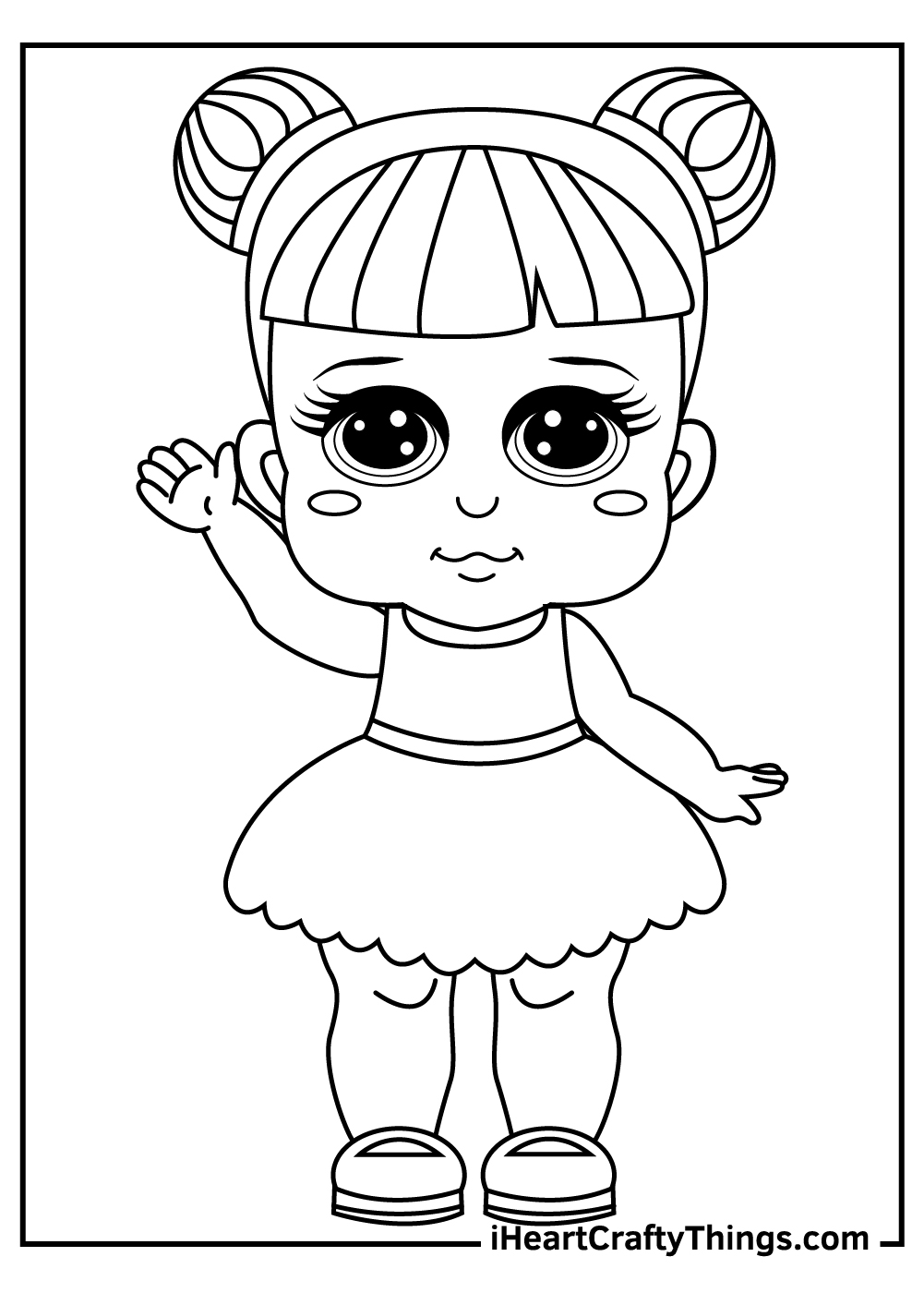 cute dolls coloring pages free printable