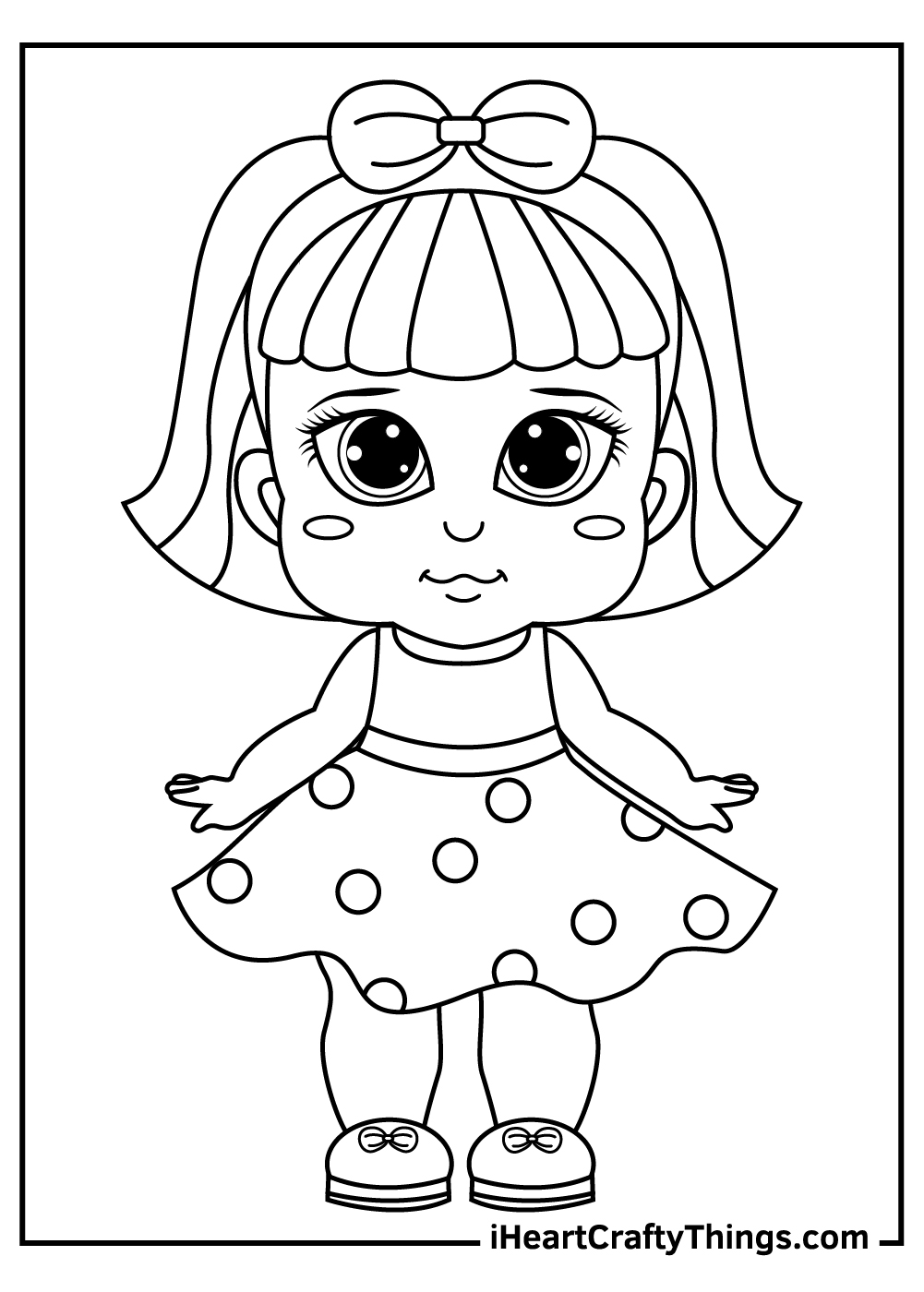 cute little dolls coloring pages free pdf