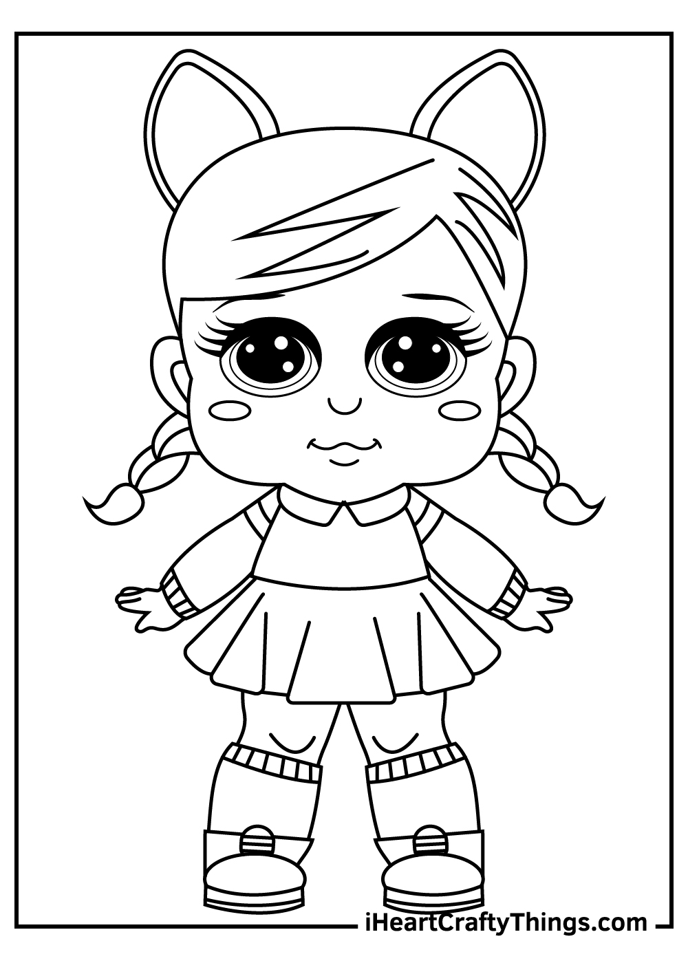 little dolls coloring pages for kids
