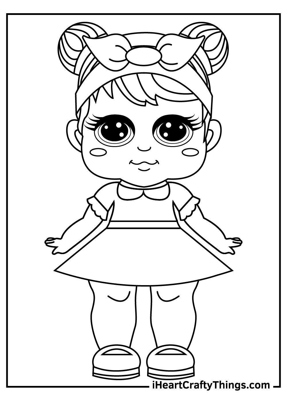 lol dolls coloring pages black and white free printable