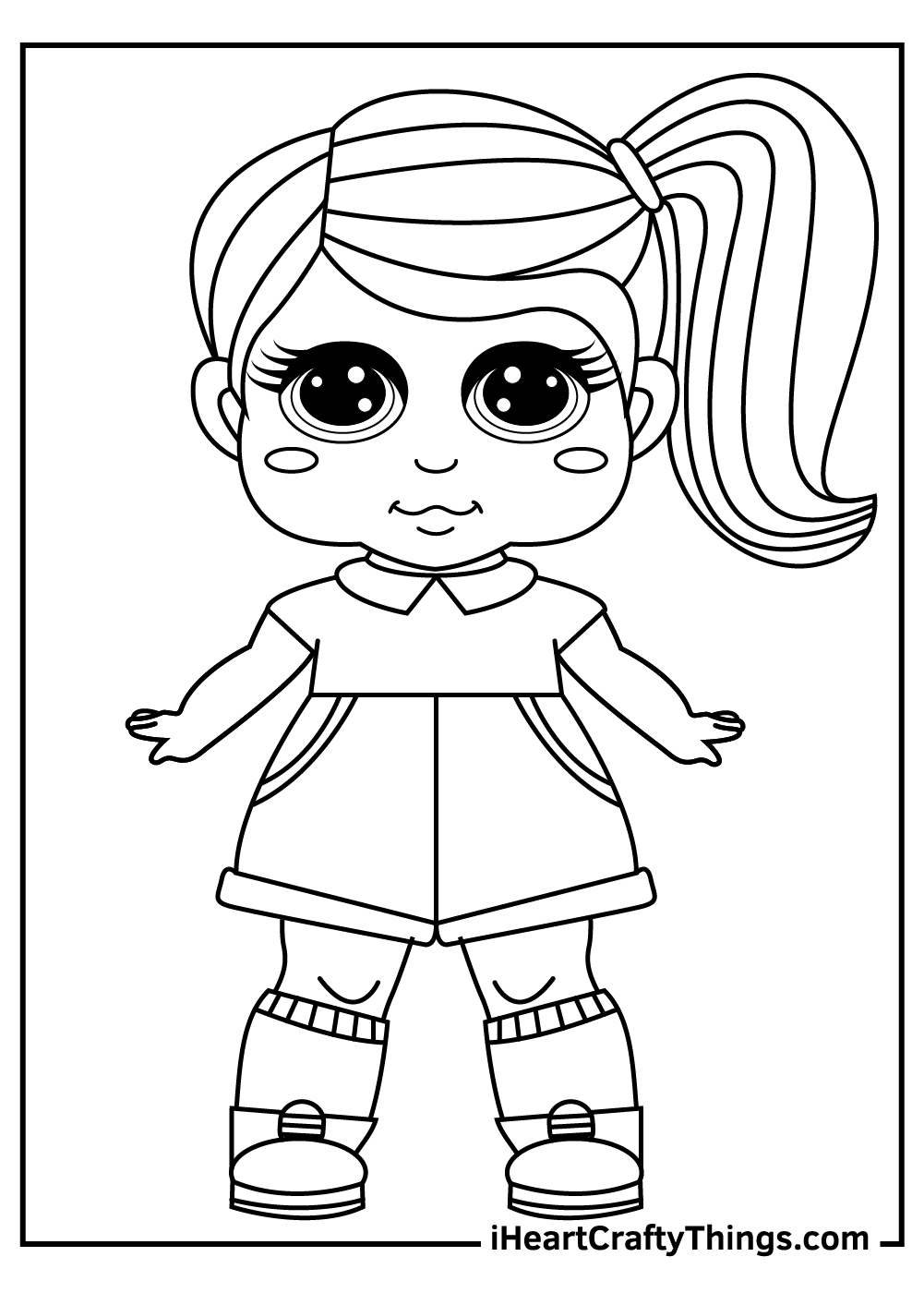 baby lol dolls coloring pages
